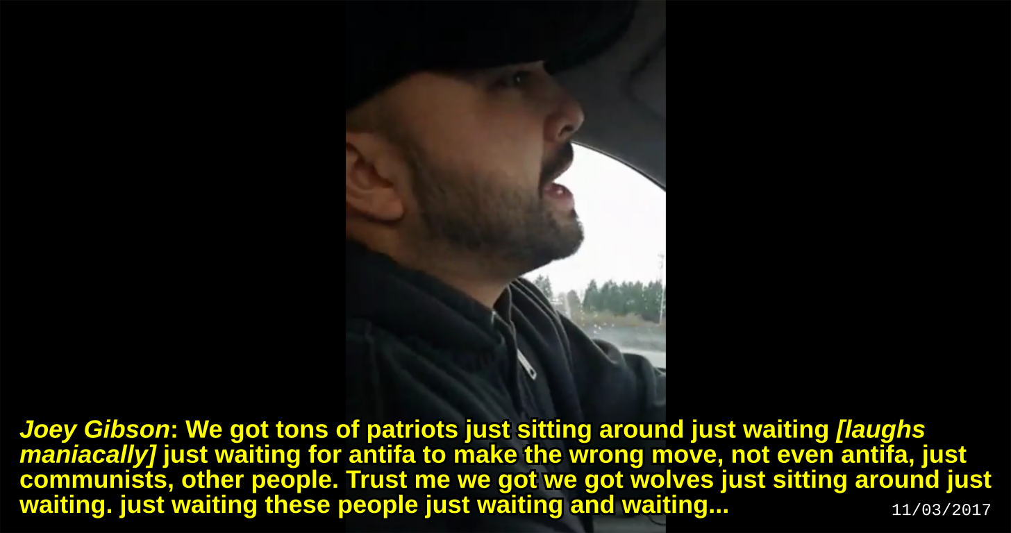 Joey Gibson and Pete Venturo talk about murder