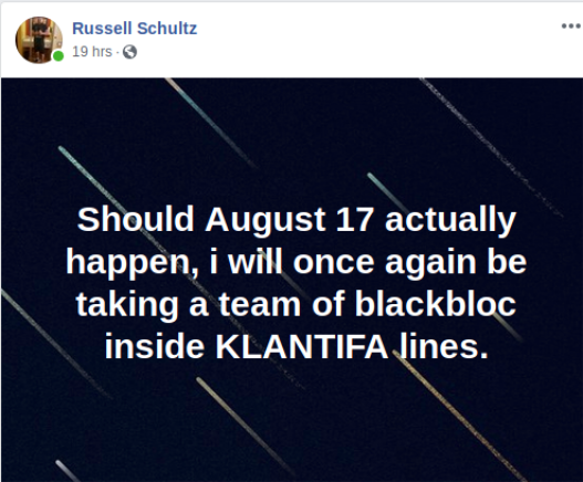 Russell Schultz discusses infiltrating and framing anti-fascists