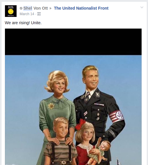 Shel Von Ott wants nazis to unite