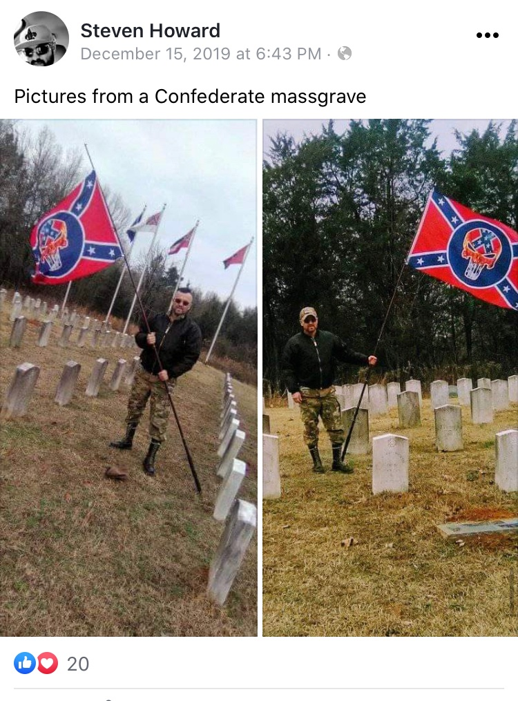 - IMAGE - Steven Shane Howard with confederate flag