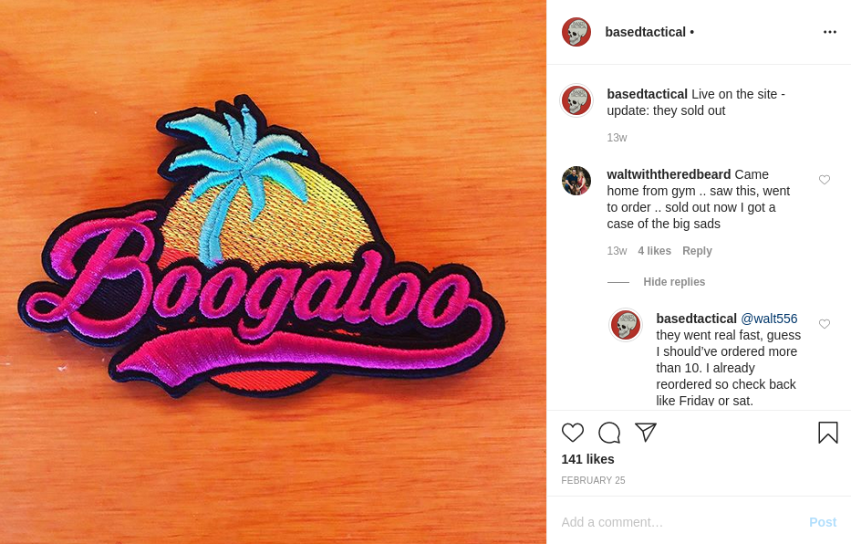 - IMAGE - boogaloo patch