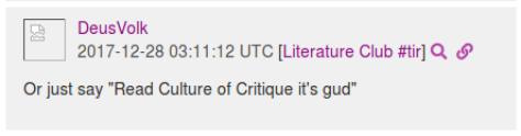Alex Loupe recommends Culture of Critique