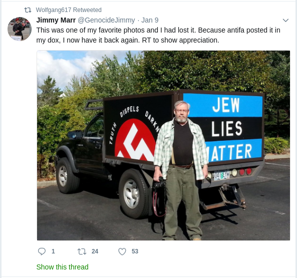 Becker boosts a neo-nazi