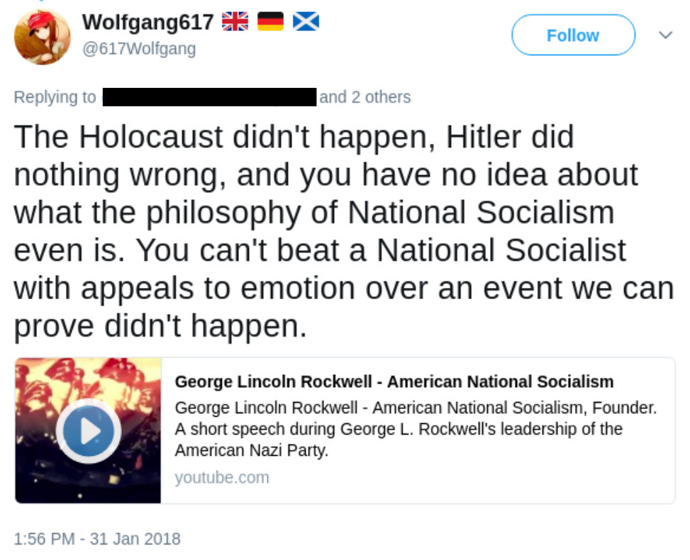 Becker denies the holocaust