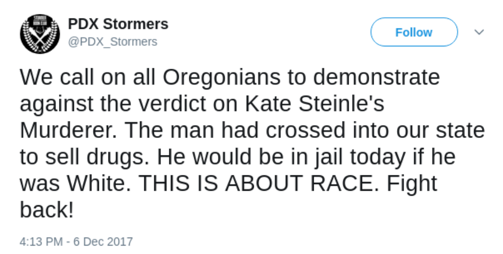 PDX Stormers rally support tweet