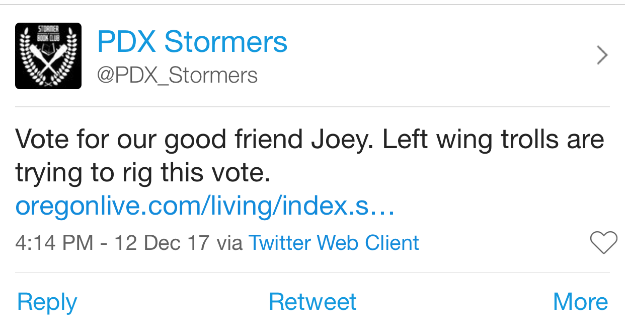 PDX Stormers vote for Joey