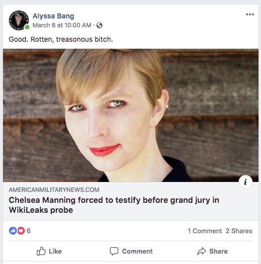 Vinsonhaler insults Chelsea Manning