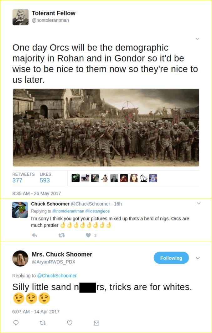 Gerasimyuk's Nazi tweets
