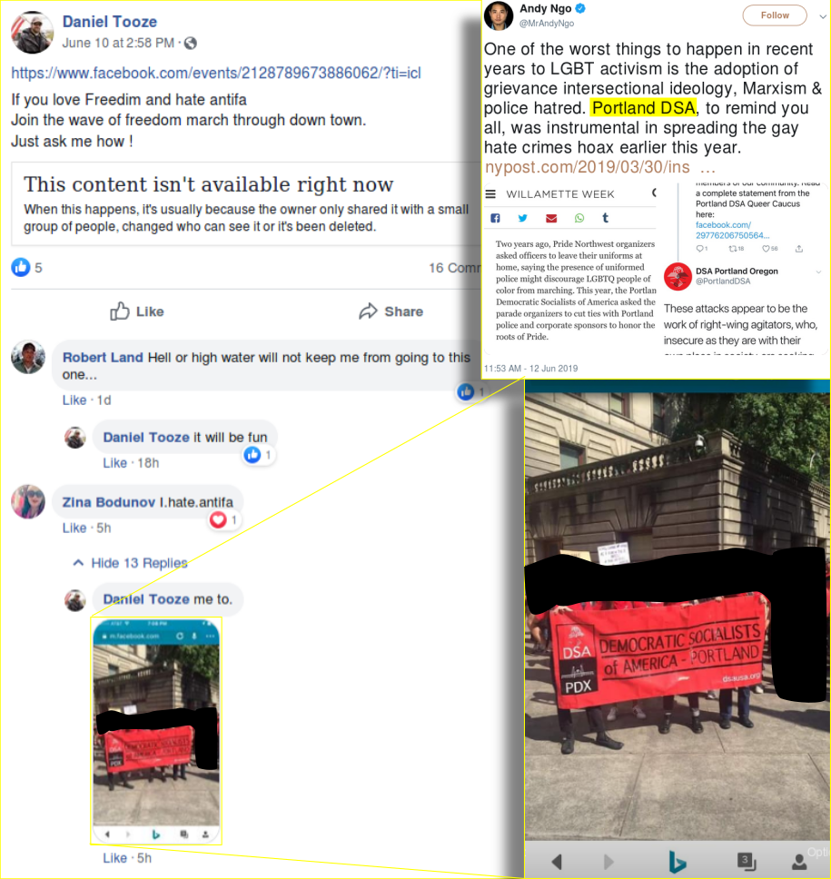Proud Boys target the Portland DSA