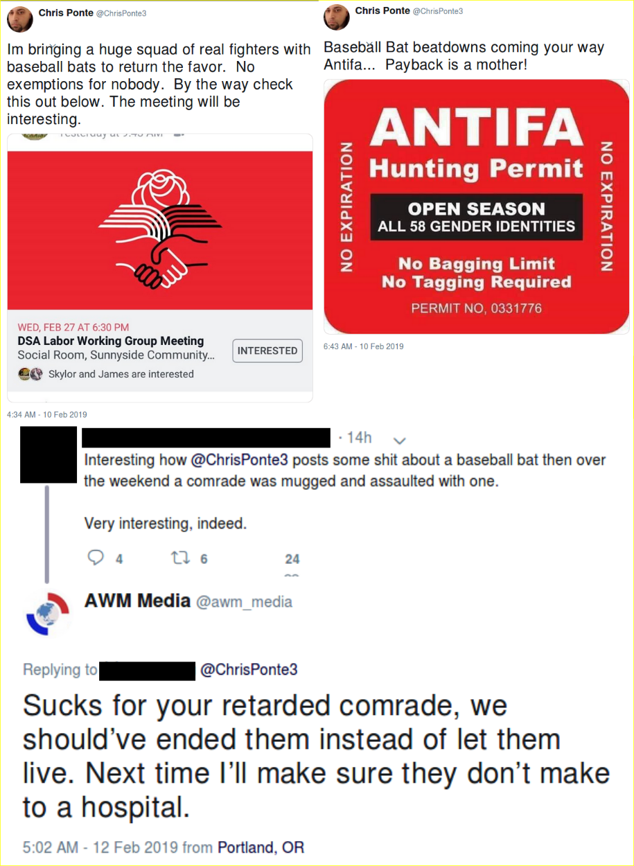 Patriot Prayer members threaten the DSA