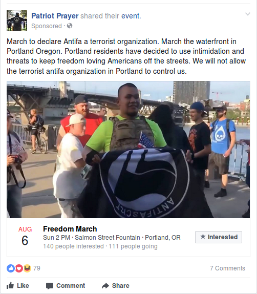 Joey Gibson's upcoming event attempts to demonize activists and residents of Portland OR