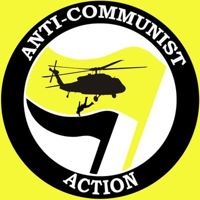 an anti-communist action logo which pays homage to a fascist tradition of extrajudicial murder