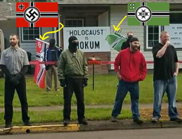 the kekistan flag flown by nazis in Springfield OR