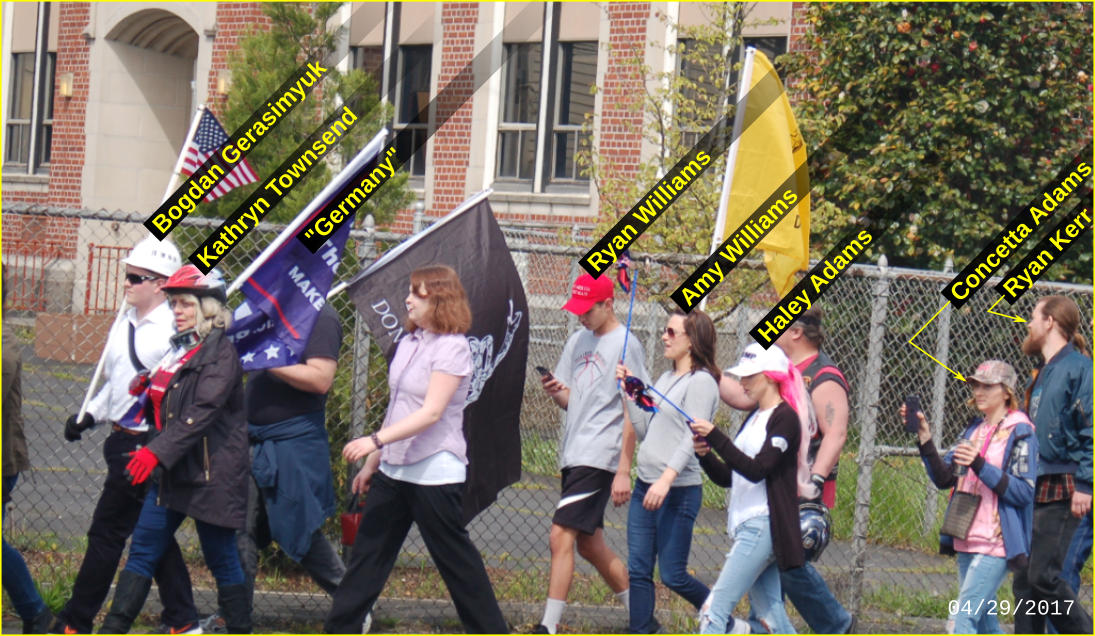 Haley Adams rallies with neo-Nazis
