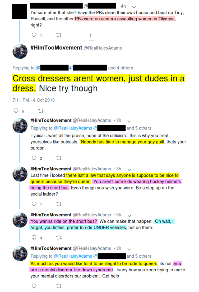 Haley Adams is a homophobic transmisogynist