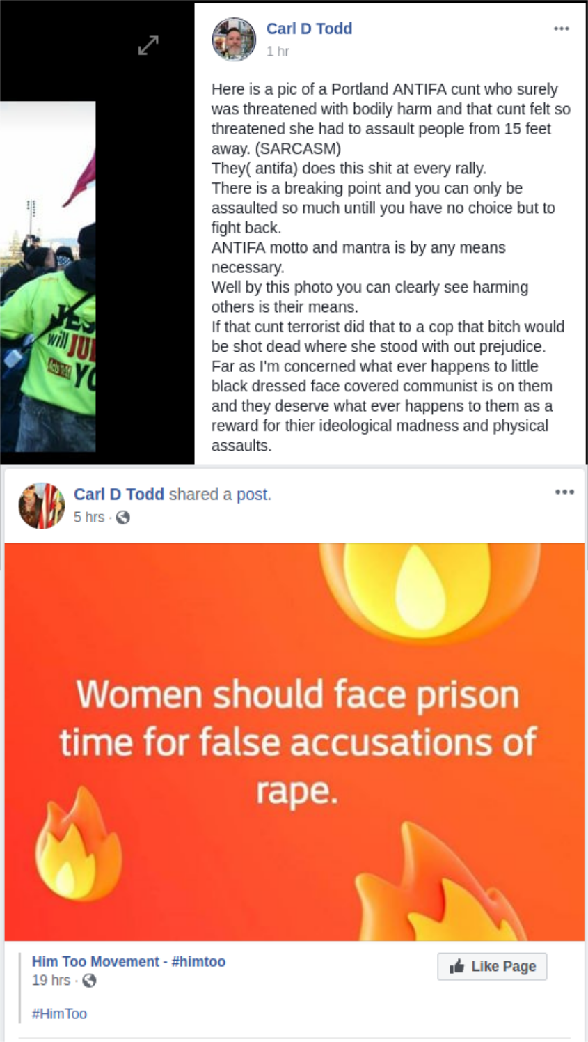 Carl D Todd is a misogynist