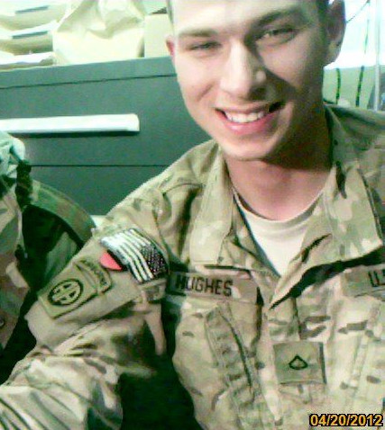 Jeffery Hughes in uniform