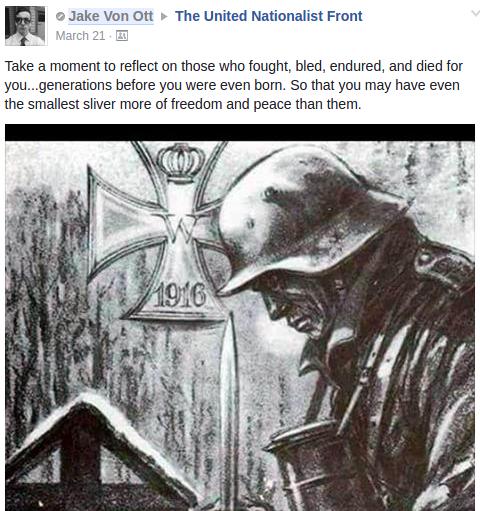Jacob Ott honors the freikorps
