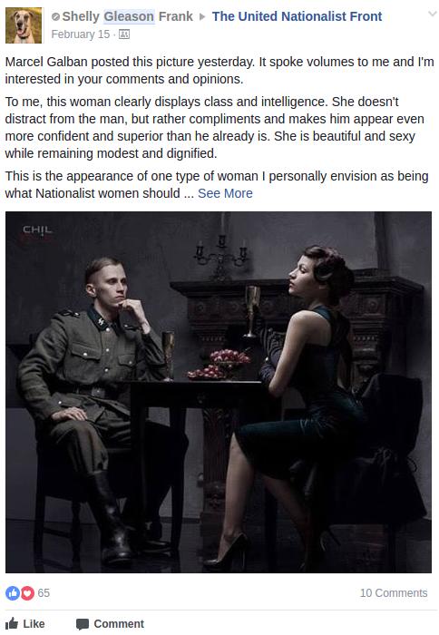 Shelly Renee Frank eroticizes nazis