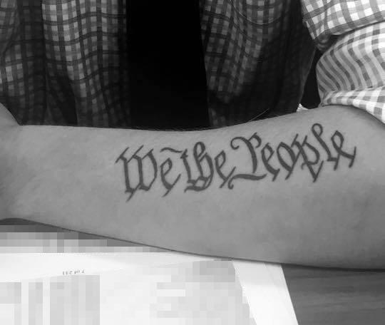 left outer forearm tattoo
