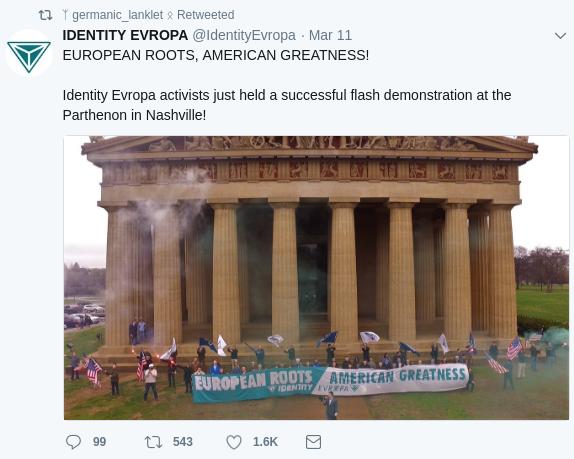 Jake Von Ott spreads Identity Europa propaganda