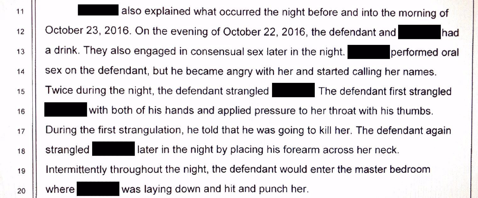 Court documents regarding domestic violence perpetrated by Ken Hart