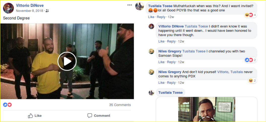 Costello posts video of his induction to the Proud Boys hate group