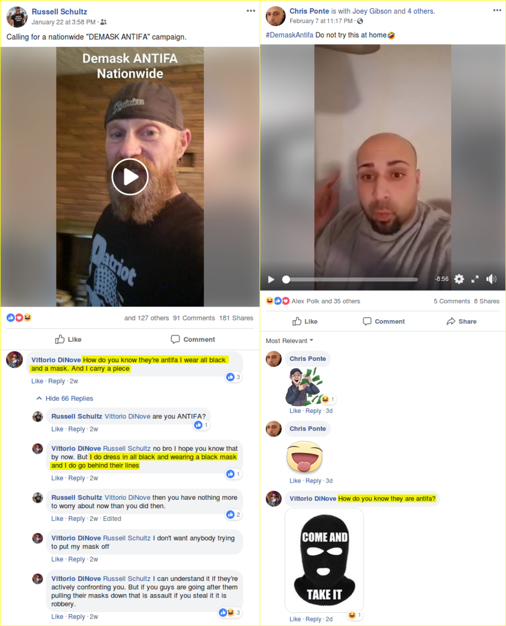 Kim Costello argues about dishonest tactics with Patriot Prayer followers