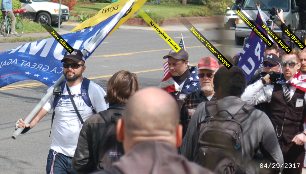 Kristopher Foster with Joey Gibson