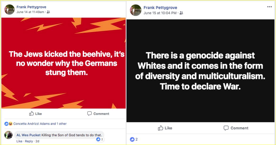 Foster espouses neo-Nazi ideology