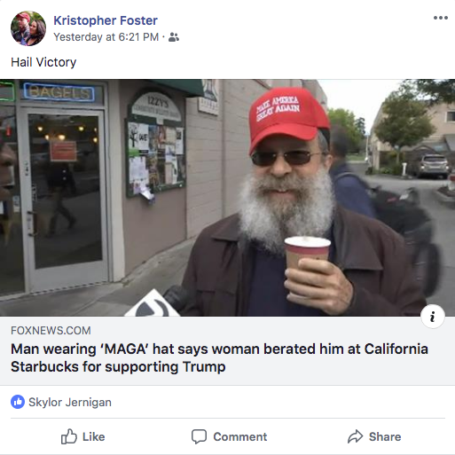Foster is a neo-Nazi