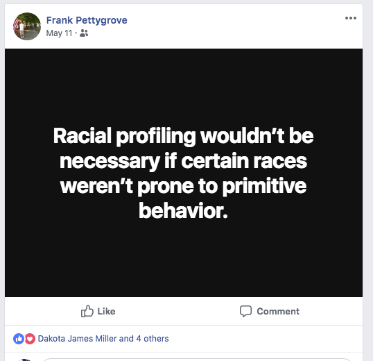 Foster wants racial profiling