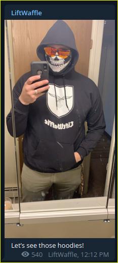 - IMAGE - Kyle Benton in his branded hoodie