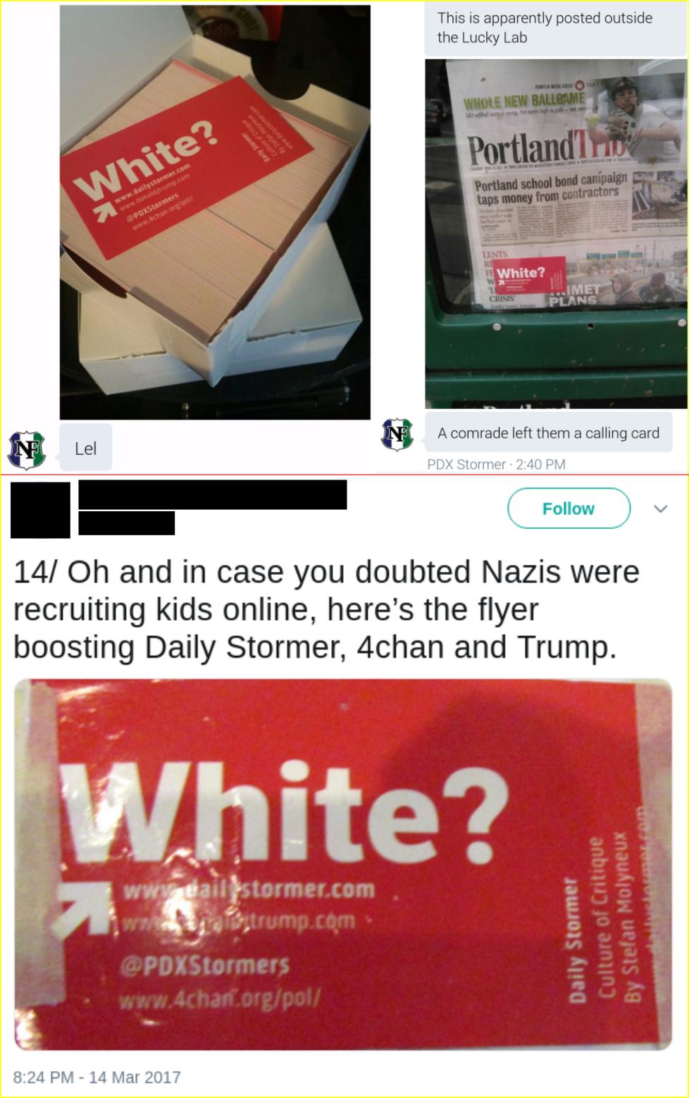 Matt Blais distributes white supremacist propaganda