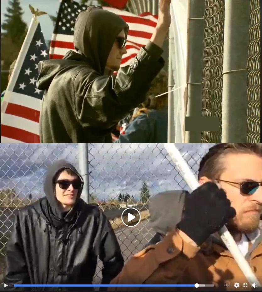 Matt Blais attends a neo-Nazi propaganda rally