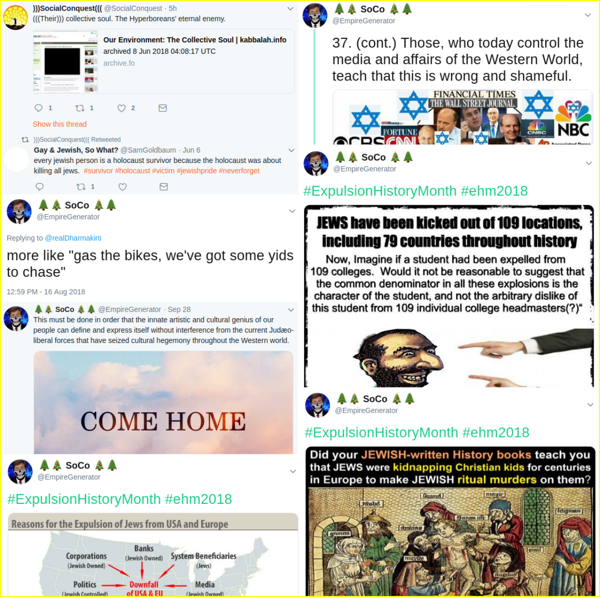 Matt Blais posts extensive anti-Semitic propaganda and neo-Nazi memes