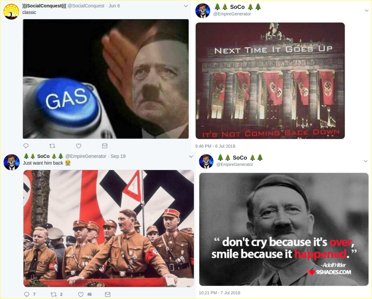 Matt Blais idolizes Hitler and expresses his hope and intention of recreating Nazi Germany in the present day