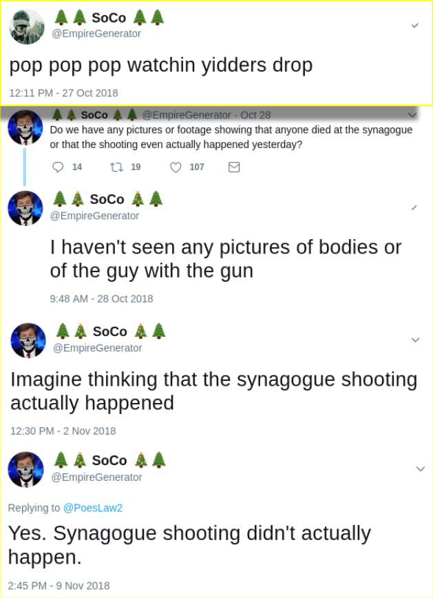 Matt Blais celebrates synagogue shooting while also suggesting it never happened