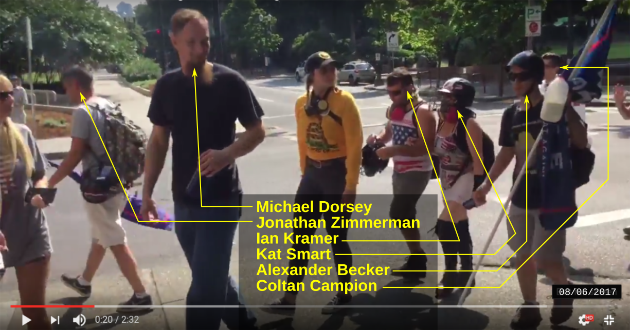 Dorsey at a Patriot Prayer rally