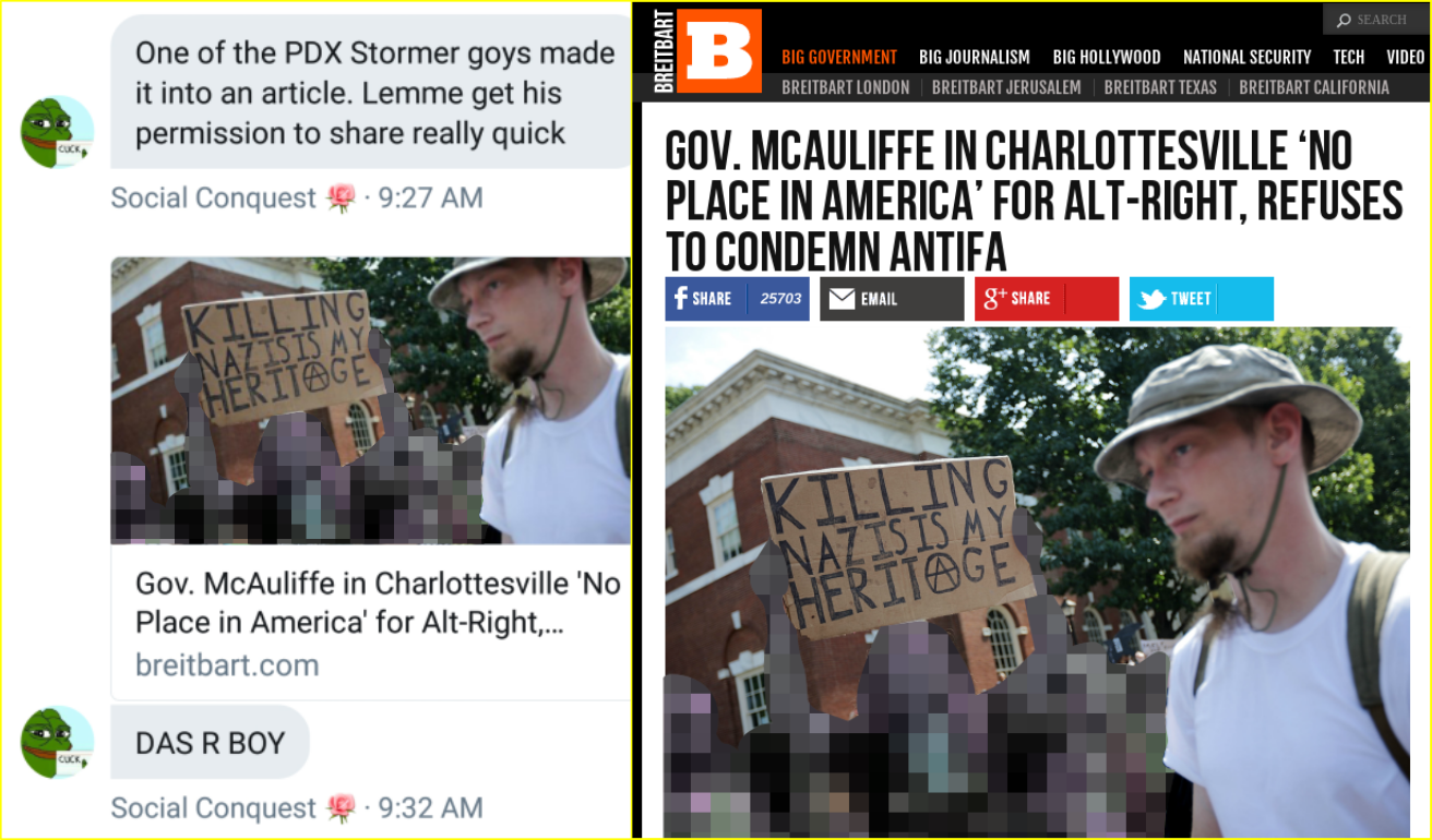 Dorsey at the Charlottesville Unite The Right neo-Nazi rally