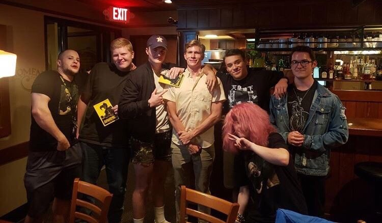 Mahoney poses with alt-right fans