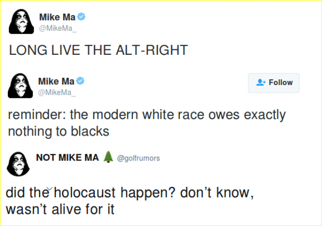 Mahoney is an alt-right holocaust denier