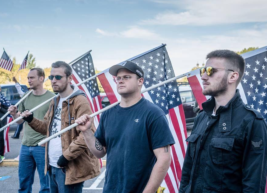 fascists attend a Patriot Prayer event with youth present
