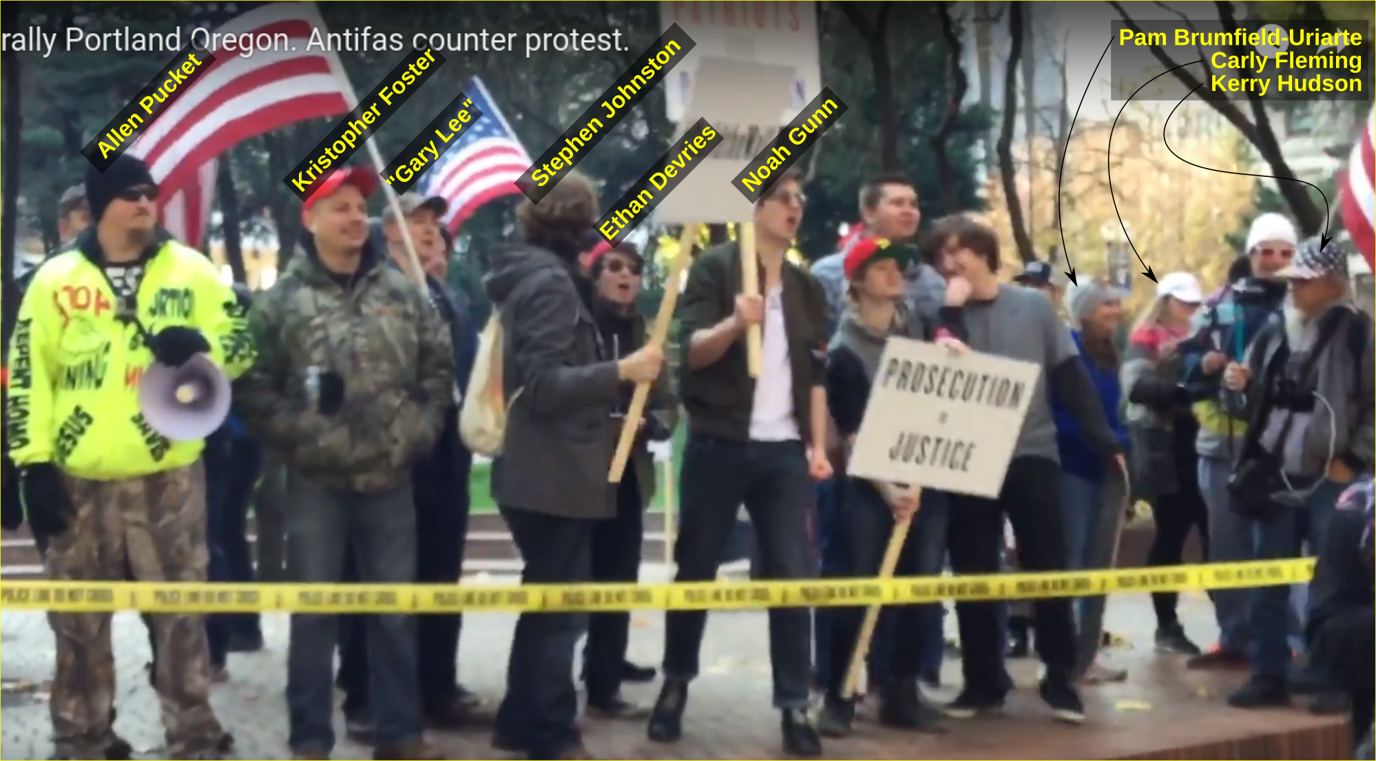 Noah Gunn hangs out with fascists at a Patriot Prayer rally