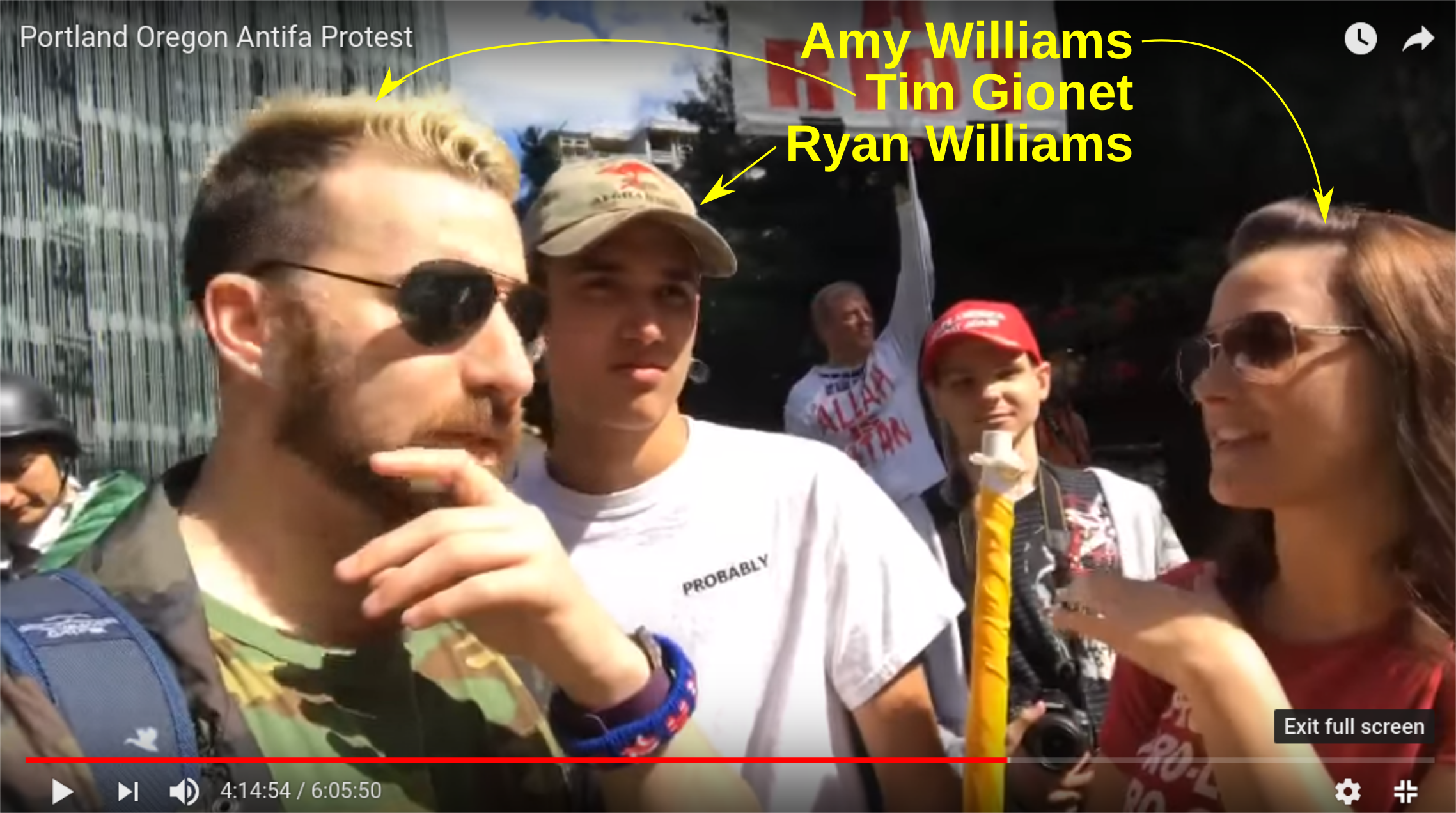 Patriot Prayer follower allows her son to be indoctrinated by a racist