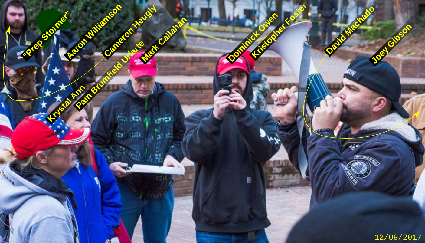Dominick Owen attends a Patriot Prayer anti-immigrant hate rally