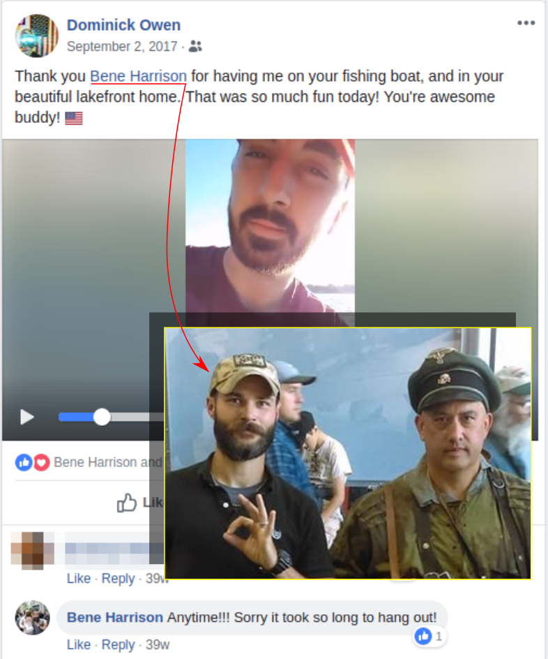 Dominick Owen associates with neo-Nazis he met at Patriot Prayer events
