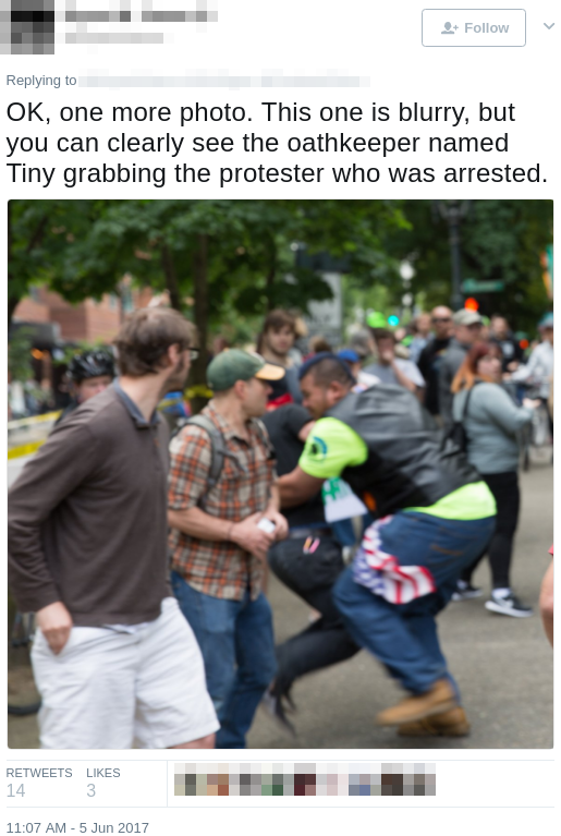 Tiny Toese assaults an activist