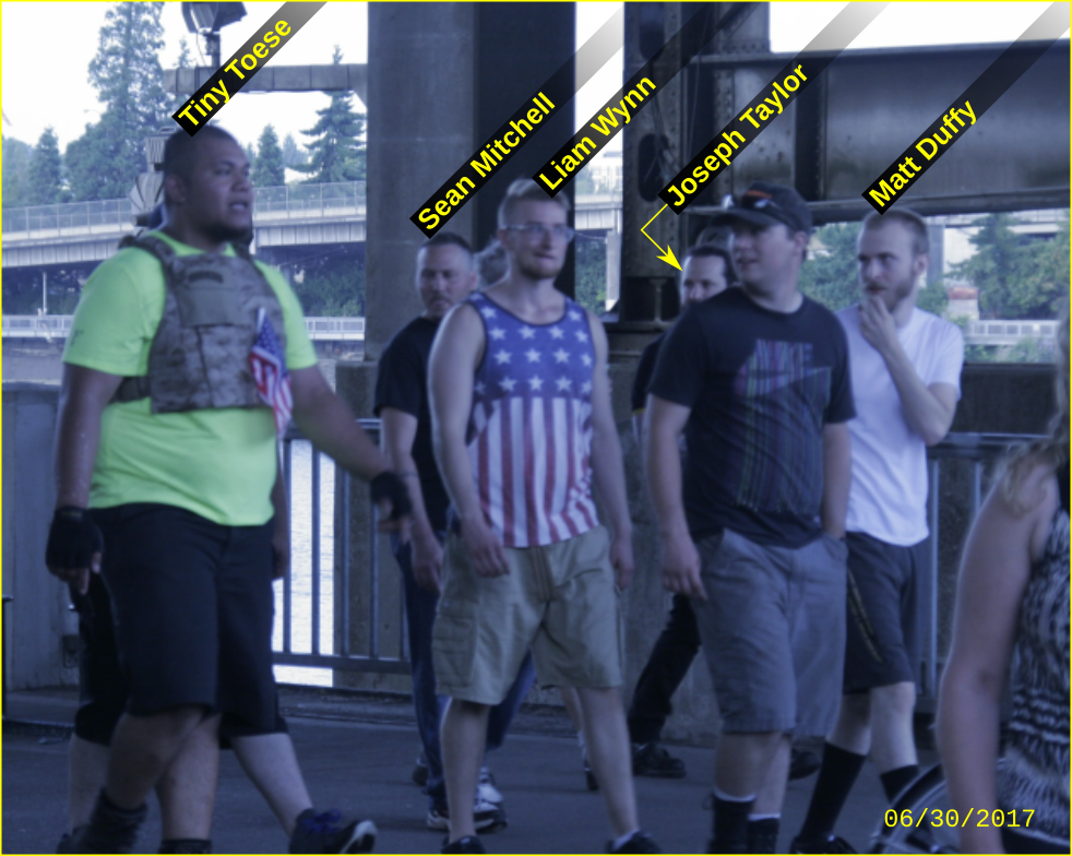 Tiny Toese marches with fascists at a Patriot Prayer rally