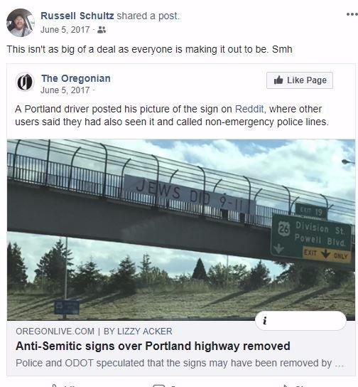 Russell Schultz anti-semitism